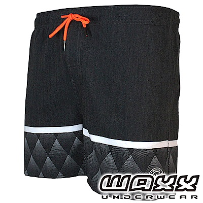 WAXX 熱浪系列-黑豹快乾型男海灘褲(15英吋)