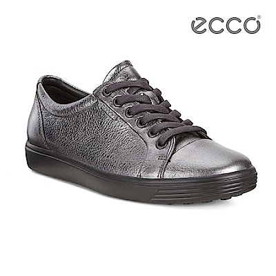 ECCO SOFT 7 LADIES 經典輕巧休閒鞋-銀