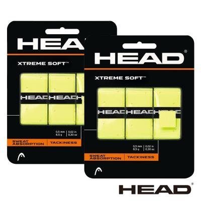 HEAD XtremeSoft 球拍外層握把布(黃)-2卡