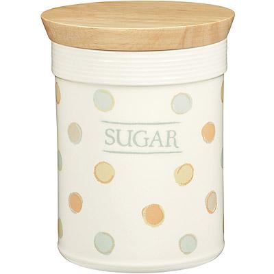 KitchenCraft 方糖木蓋陶罐(復古點)