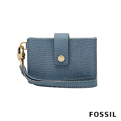 FOSSIL MINI WALLET 多國貨幣皮夾 小夾-霧藍色