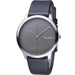 Calvin Klein minimal 大 ck 簡約時尚腕錶-深灰色/40mm