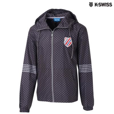K-Swiss Star Print Windbreaker風衣外套-男-黑