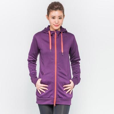 FIVE UP(女)-長版連帽針織外套-紫