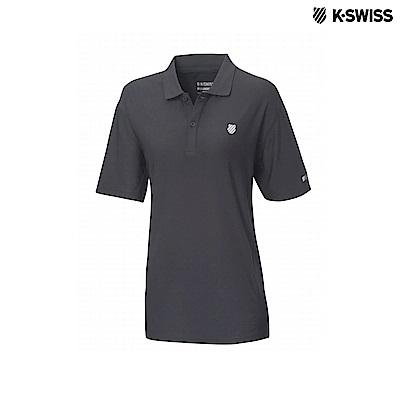 K-Swiss Space Dye Polo Shirt排汗POLO杉-女-黑