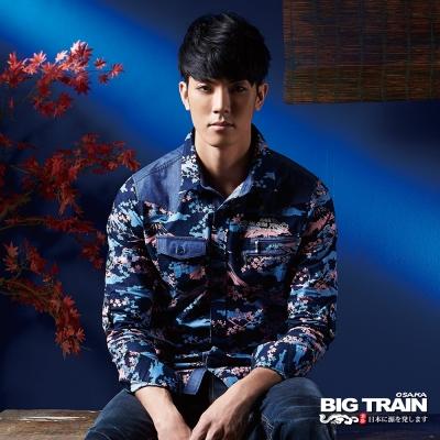 BIG TRAIN 日式印花襯衫-男-富士山