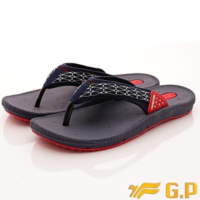 GP時尚涼拖-織帶透氣夾腳拖-GSE504M24藍紅(男段)