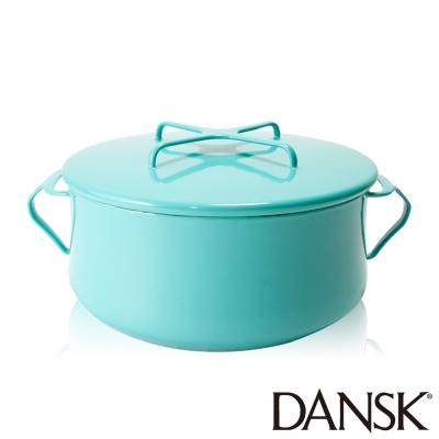 丹麥DANSK-琺瑯雙耳湯鍋18-5CM-湖水綠