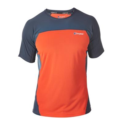 【Berghaus 貝豪斯】男款機能型銀離子短袖S04M01-橘/灰