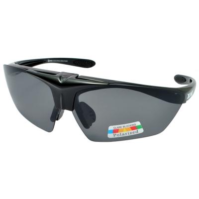 XGAMES護目套鏡-1087-C2 可掀式雙重防護偏光太陽眼鏡/運動墨鏡/防風鏡(亮黑)