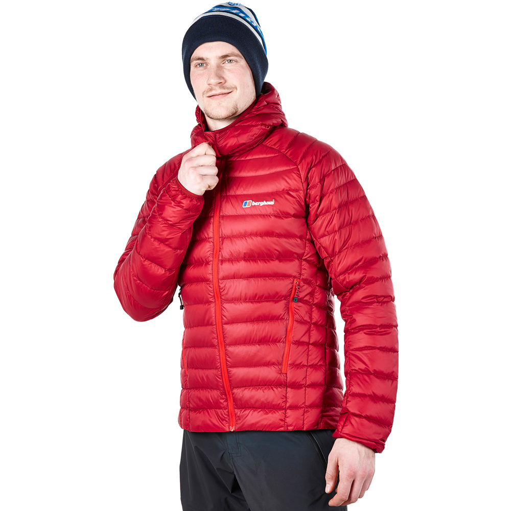 【Berghaus 貝豪斯】男款Pertex溫度調節防潑水鵝絨外套F22MM1-紅