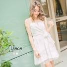 東京著衣-yoco 性感名媛傘襬平口洋裝-XS.S.M(共二色)