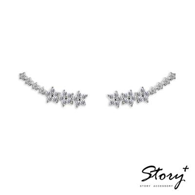 STORY ACCESSORY-星河排鑽鋯石-純銀耳環