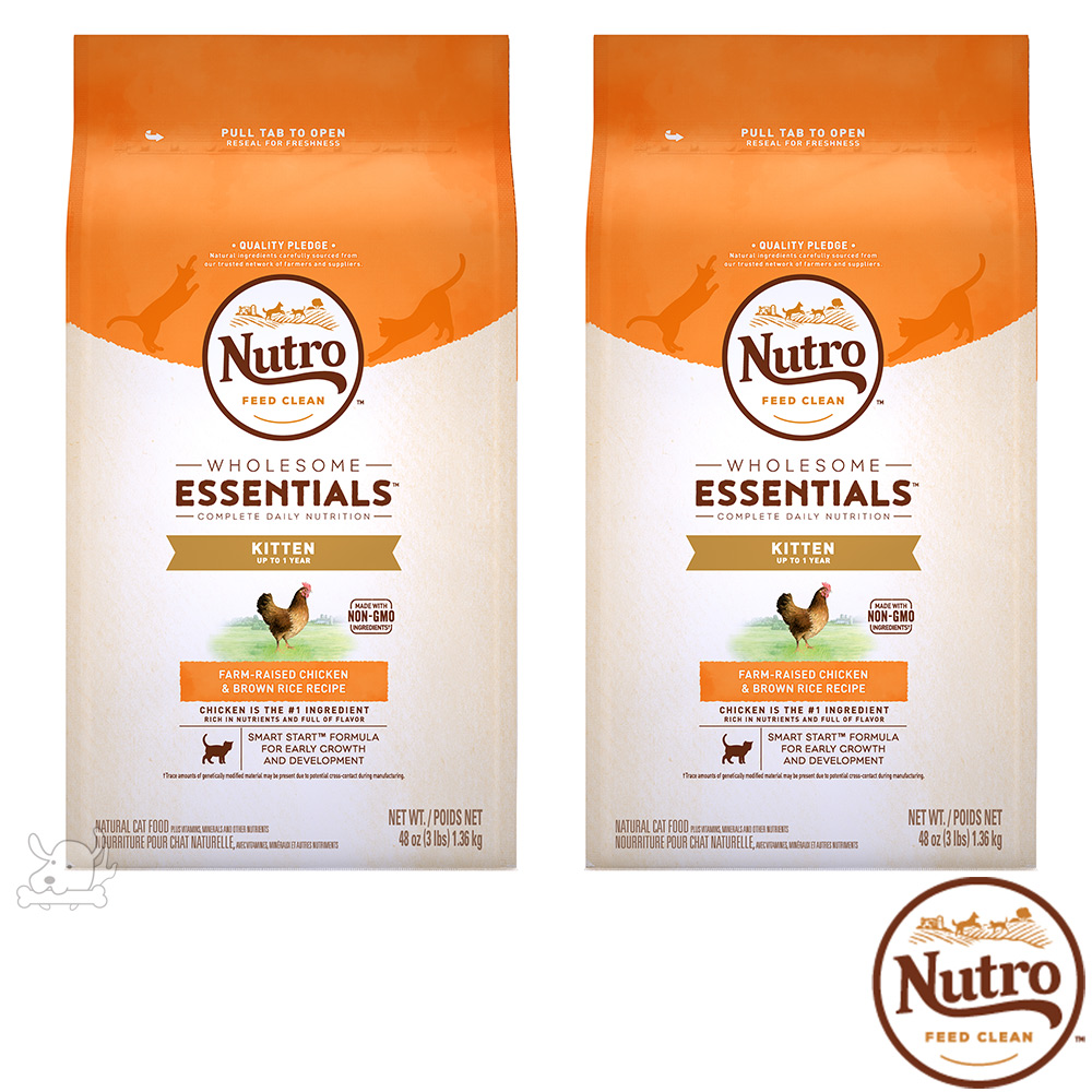 Nutro 美士 全護營養 幼母貓配方(農場鮮雞+糙米)3磅 X 2包