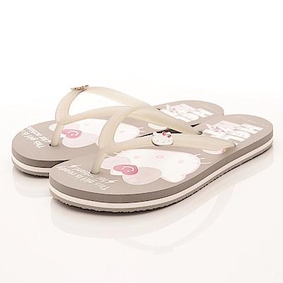 HelloKitty童鞋 凱蒂夾腳拖款 16076灰(大童段)