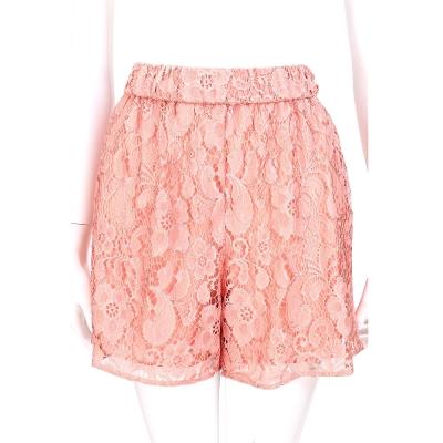 MOSCHINO 粉橘色蕾絲設計短褲
