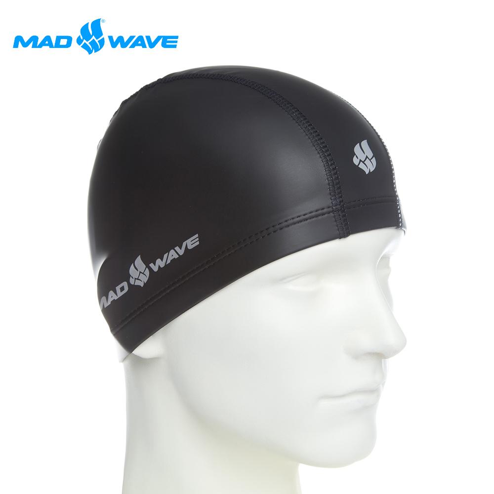 俄羅斯 邁俄威 成人舒適彈性泳帽 MADWAVE PUT COATED