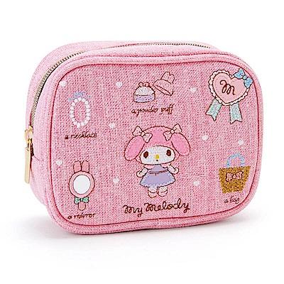 Sanrio 美樂蒂刺繡鑲飾化妝包(美麗小物)