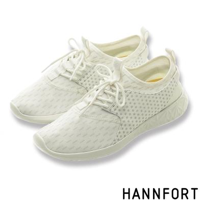 HANNFORT ICE超級凍感運動休閒鞋-女-冰雪白