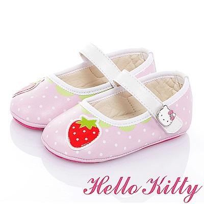 HelloKitty 草莓系列手工超纖減壓防滑學步娃娃鞋-粉