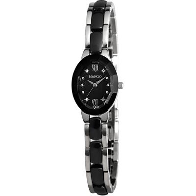 MANGO 羅馬星辰陶瓷腕錶-黑/26mm