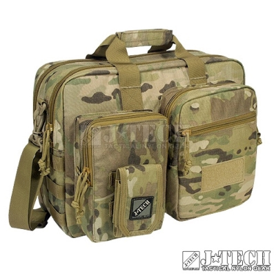 【J-TECH】暮光筆記型電腦攜行袋-M號B款(迷彩綠MC)