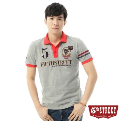5th STREET POLO衫 英式皇家桂冠POLO衫-男-灰色