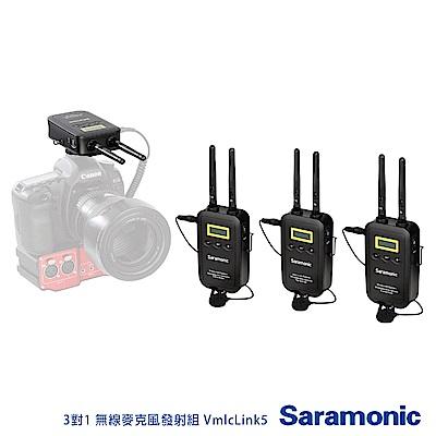 Saramonic 楓笛 3對1 無線麥克風發射組 VmlcLink5