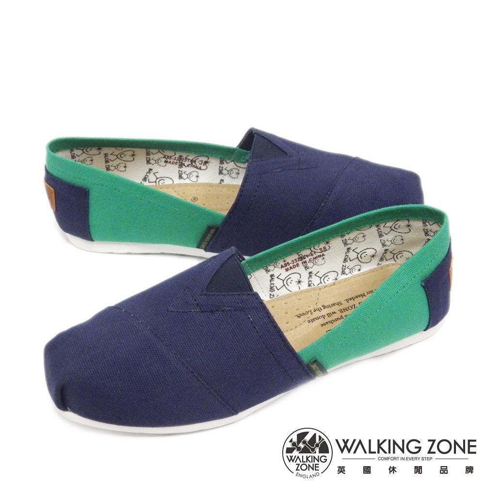 WALKING ZONE 悠閒步伐輕巧國民便鞋女鞋-藍