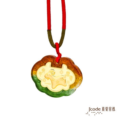 J'code真愛密碼 福氣羊黃金彌月木盒-0.1錢