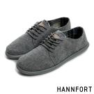 HANNFORT COZY可機洗兩穿式後踩氣墊休閒鞋-男-隨性灰