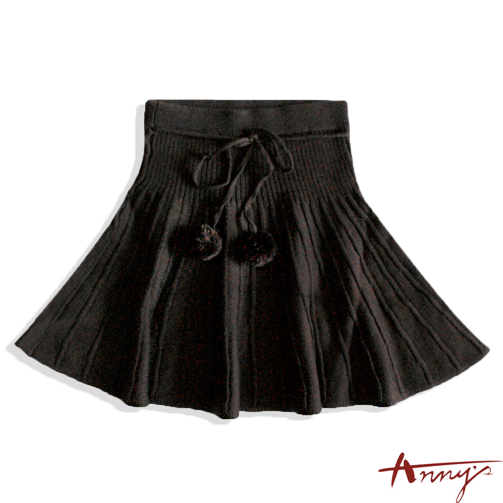 Anny針織毛線球短裙*3257咖啡