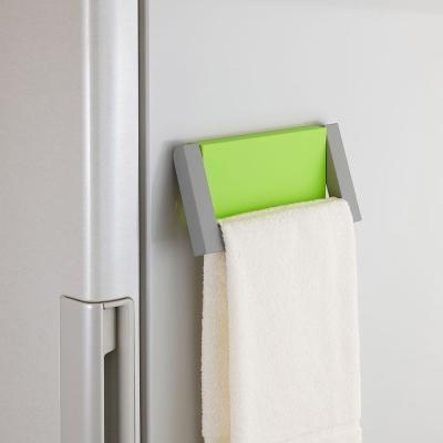 日本Belca磁吸式毛巾架-綠彩