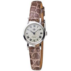 玫瑰錶 Rosemont 茶香玫瑰系列 輕巧復古時尚腕錶-咖啡色x白色/20mm