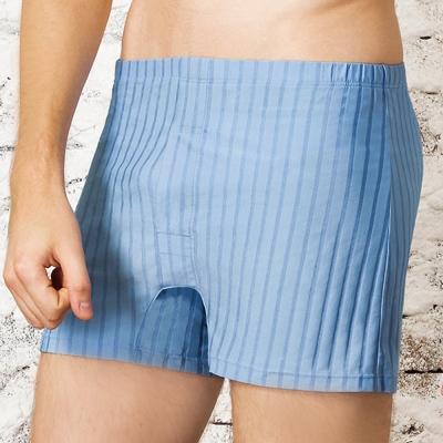 DAYNEER-寬鬆舒活-經典條紋四角褲-清淨藍
