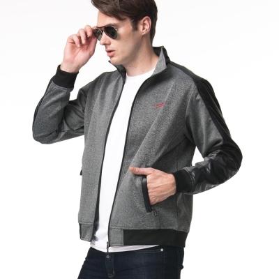 聖手牌 外套 條紋背飾運動休閒夾克外套(灰)