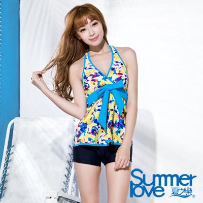 夏之戀SUMMERLOVE 向陽花園長版二件式泳衣