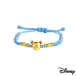 Disney迪士尼金飾 雀躍米奇黃金編織手鍊之二