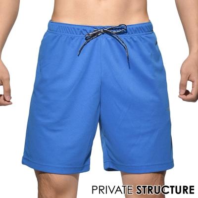 P.S時尚簡約快乾型健身路跑運動短褲(藍色)