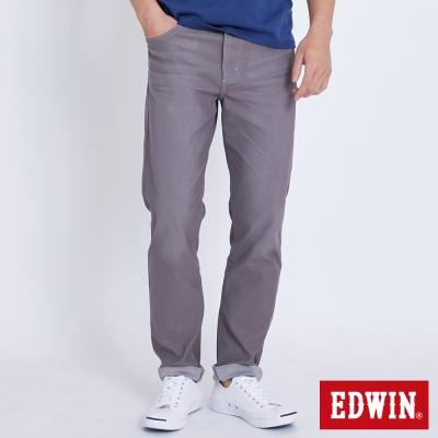 EDWIN 迦績褲JERSEYS織帶AB褲-男-灰褐