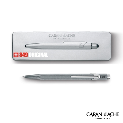 CARAN dACHE 卡達 - Office│line 849系列 復刻銀 原子筆