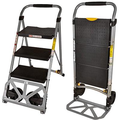 【凱堡】多功能安全樓梯推車-XS(三階)