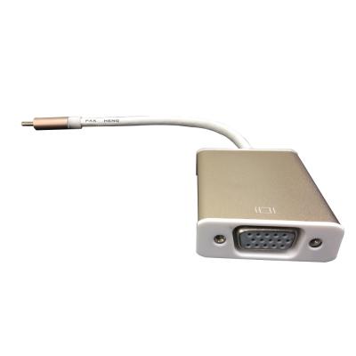 EZstick TYPE C 轉 VGA 高清轉接線 1080P 鋁殼