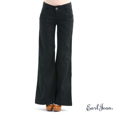 福利品 Earl Jean復古中腰大喇叭褲-黑