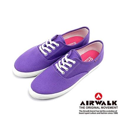 【美國 AIRWALK】繽紛一夏甜心女孩帆布鞋-女(甜蜜紫)