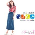 BeautyFocus  多功能防潑水抗UV防曬裙-土耳其藍