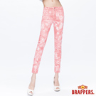 BRAPPERS 女款 新美腳Royal-Cargo系列-女用彈性九分褲-粉橘雪花