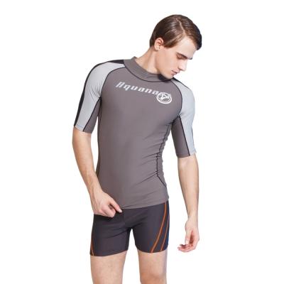 Aquanaut奧可那泳裝 海岩灰短袖單品衝浪衣