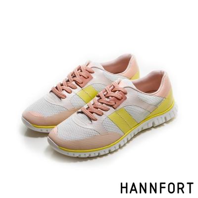 HANNFORT ZERO GRAVITY飛越史丹佛拼色氣墊鞋-女-清新黃