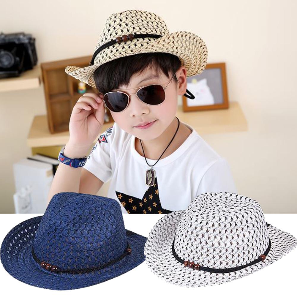 iSFun 透氣草帽 中性兒童編織遮陽帽 3色可選 product image 1